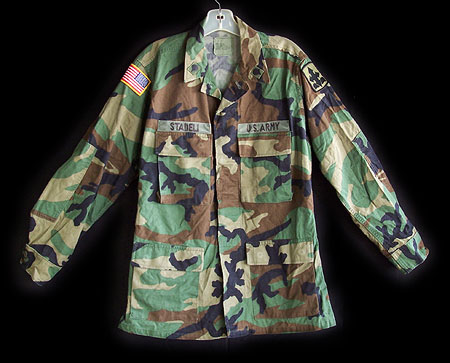Official U.S. Military Issue Woodland Camouflage BDU Shirt
