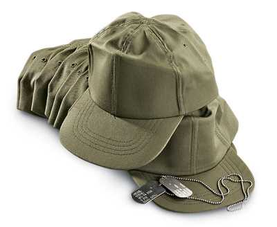 Official U.S. Military Issue OD Green Hot Weather Hat