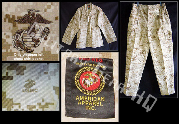 Official USMC Issue, Digital Desert MARPAT MCCUU Trousers or Blouses