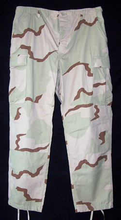 Official U.S. Military Issue 3 Color Desert BDU Pants