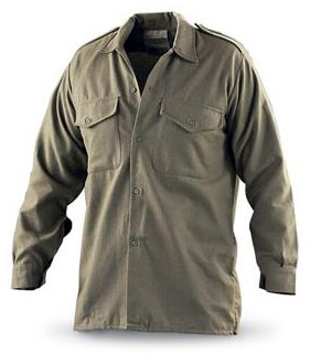 British Military Issue Long Sleeved Wool Shirt