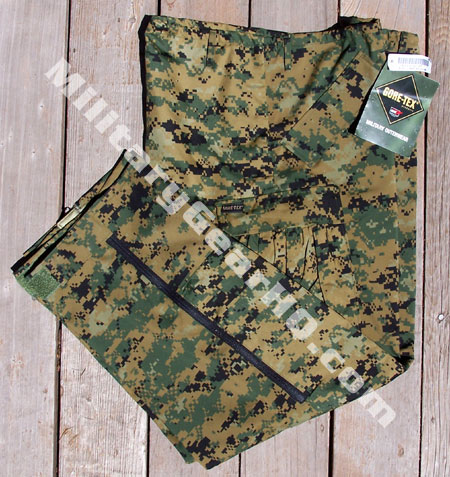 Official USMC Issue Woodland MARPAT APEC Gore-Tex Trousers