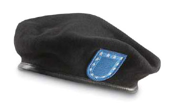 Official U.S. Army Issue Black Wool Beret w/Flash