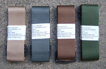 Official U.S. Military Issue Riggers Belt